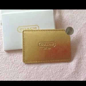 Beautiful Coach mirror and Wallet Set